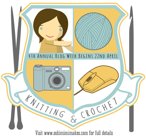 A day behind but still participating in the 4th Annual Knitting and Crochet Blog Week!