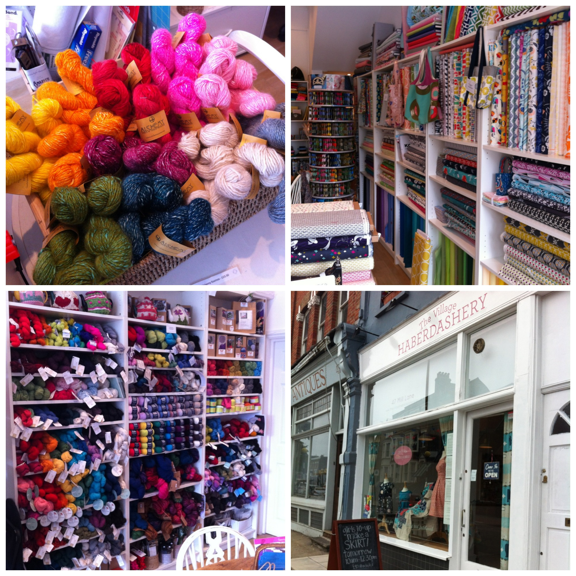So much colour on display at The Village Haberdashery!
