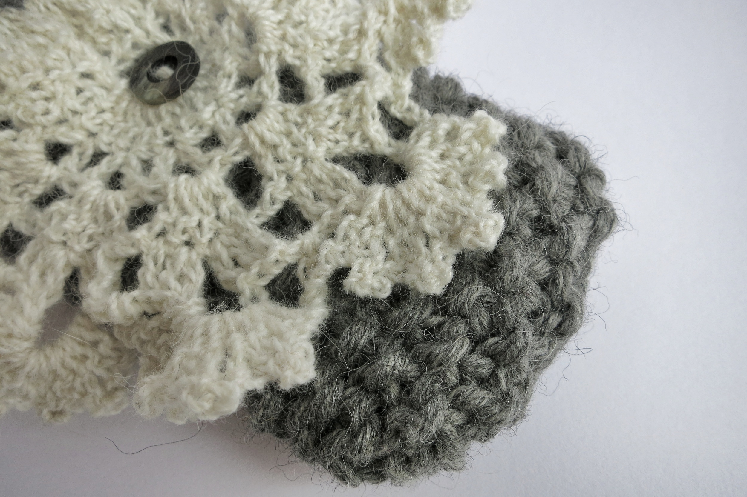 A little mix of TOFT Chunky knit, and TOFT Fine crocheted.
