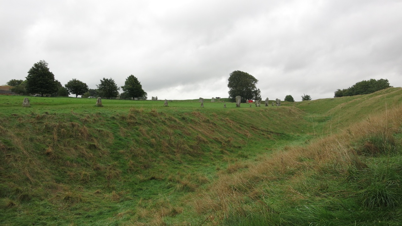 Avebury Henge - a delightful yet slightly soggy detour on our way to the retreat!