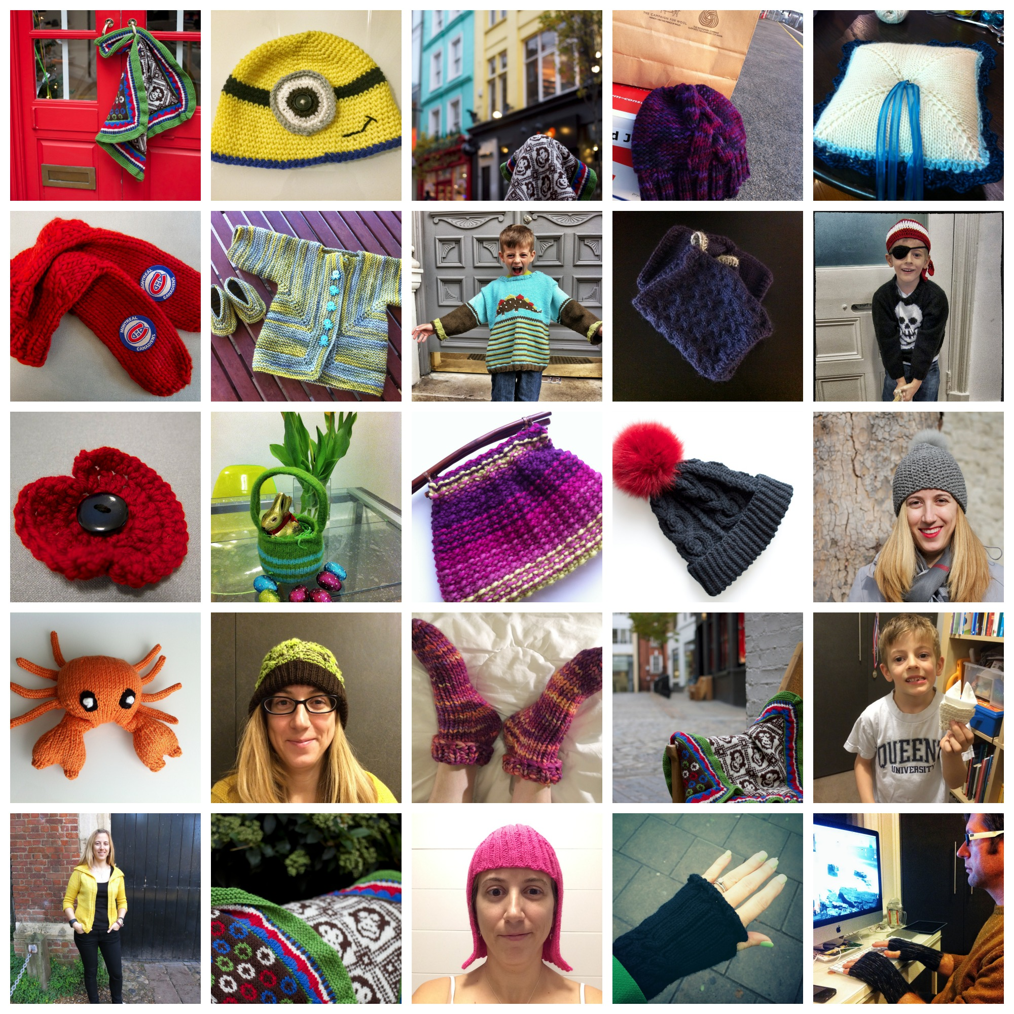2013 by the numbers: 27 projects (including 3 UFOs) and 6,932 yards knit/crocheted.