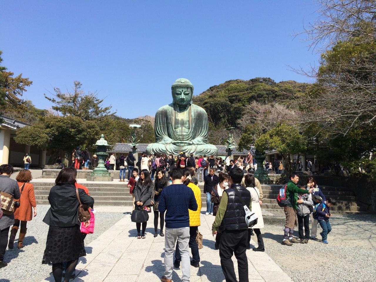 The Giant Buddha at Kamakura.