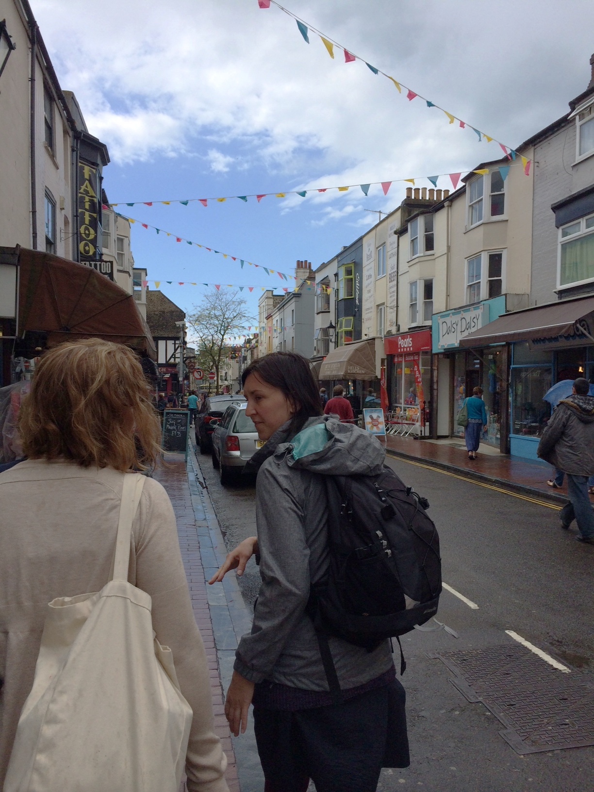 Dani walks Rachel and I through Brighton's charming streets.