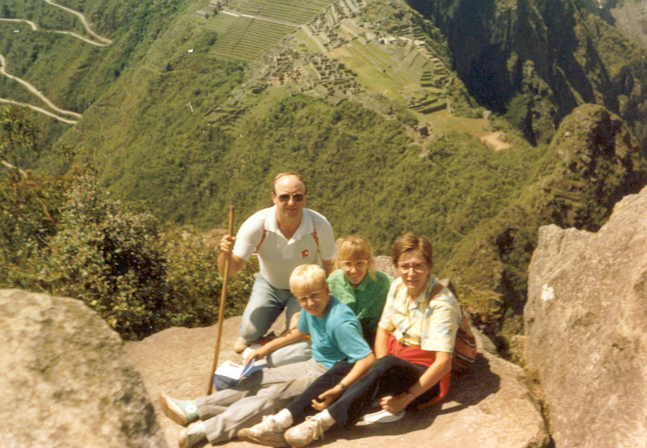 Looking down on Macchu Picchu. I think I'm 13 or 14 years old in this picture.