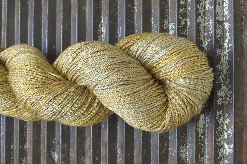 The skein of Islington in Gold Dust from Linda's shop update that incited longing. Photo courtesy of Kettle Yarn Co.