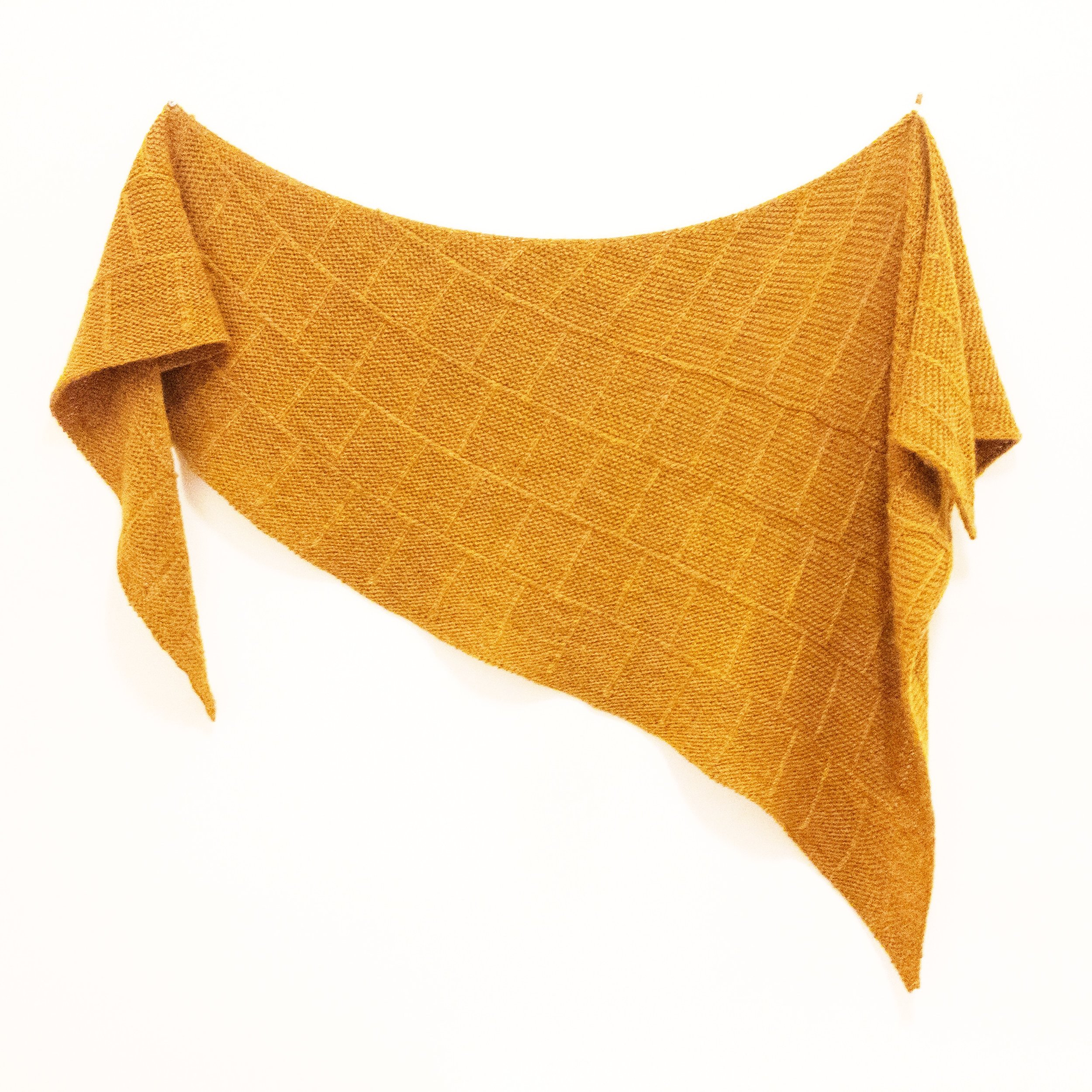 Beton Brut shawl - WY in Goldenrod.JPG