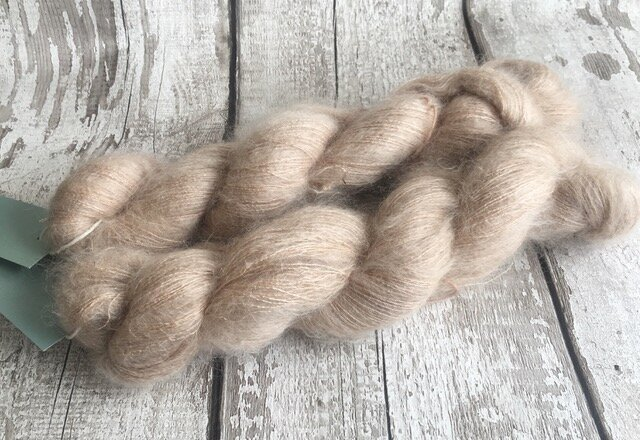 New Kid Silk lace from Gather Yarn - so fluffy!