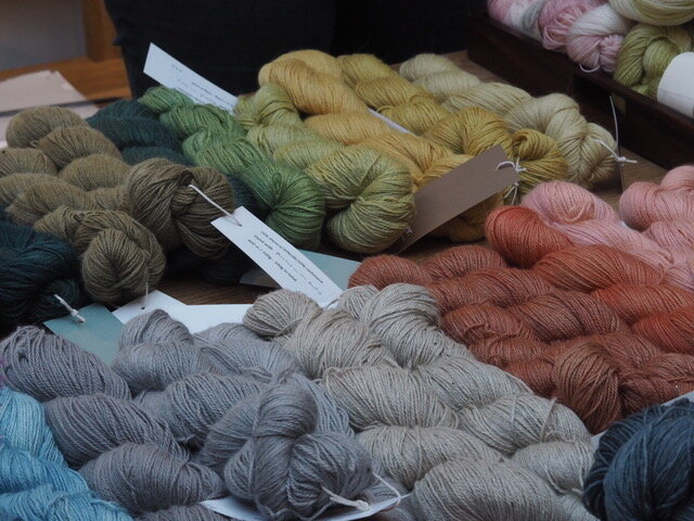 A tempting rainbow of naturally dyed yarns