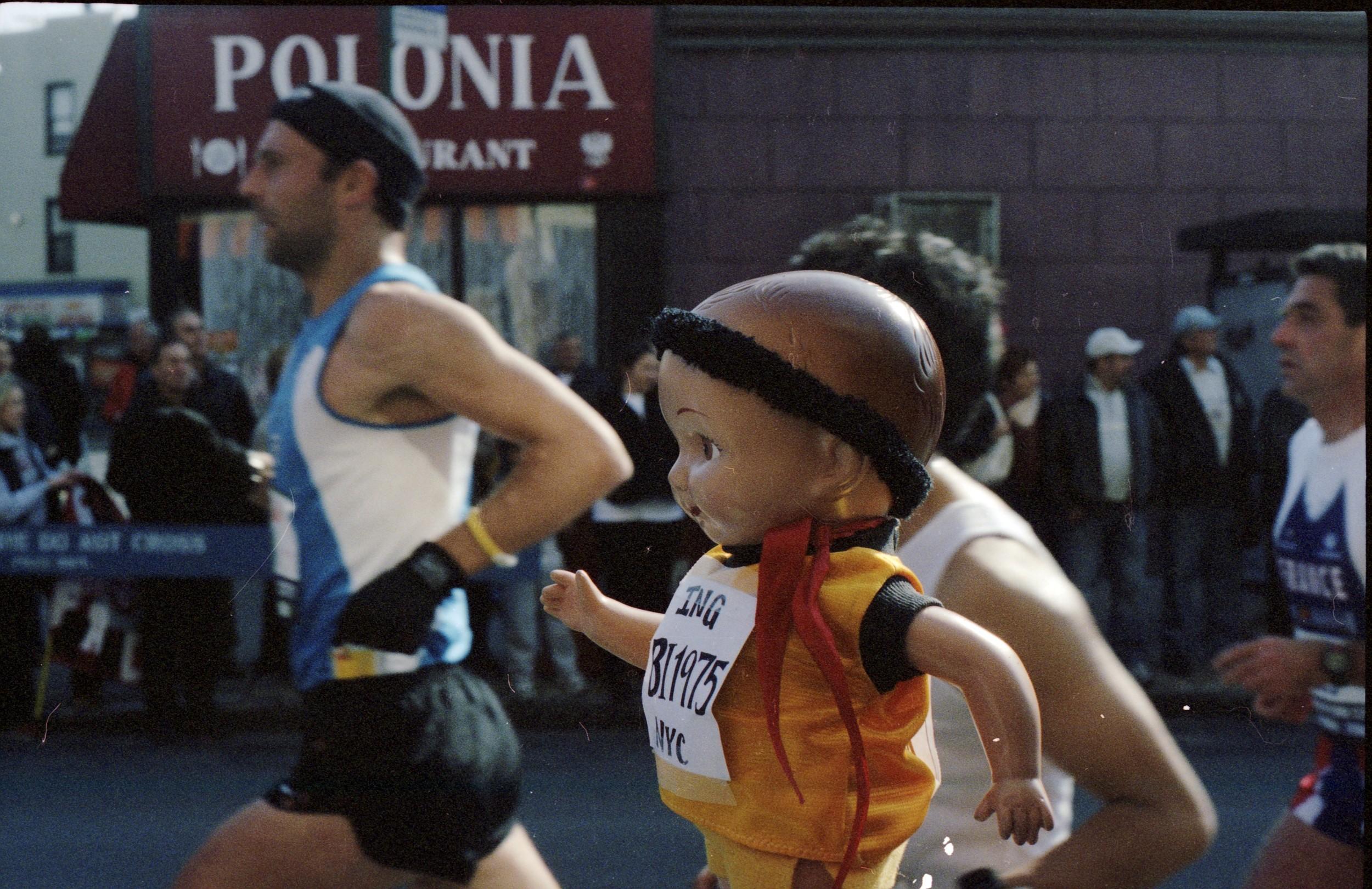 Buddy Ian at  the NYC Marathon