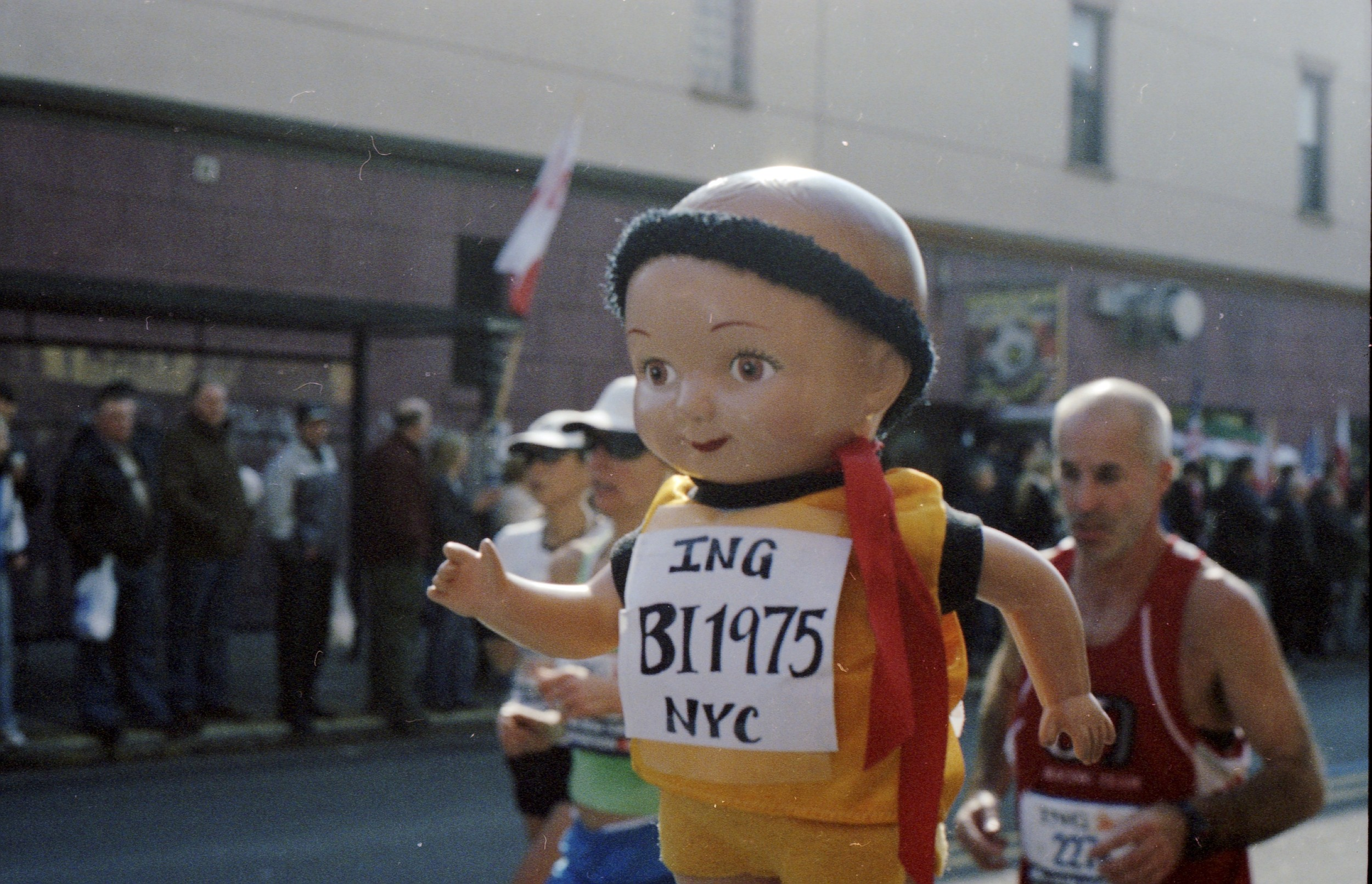 Buddy Ian out front at the NYC Marathon