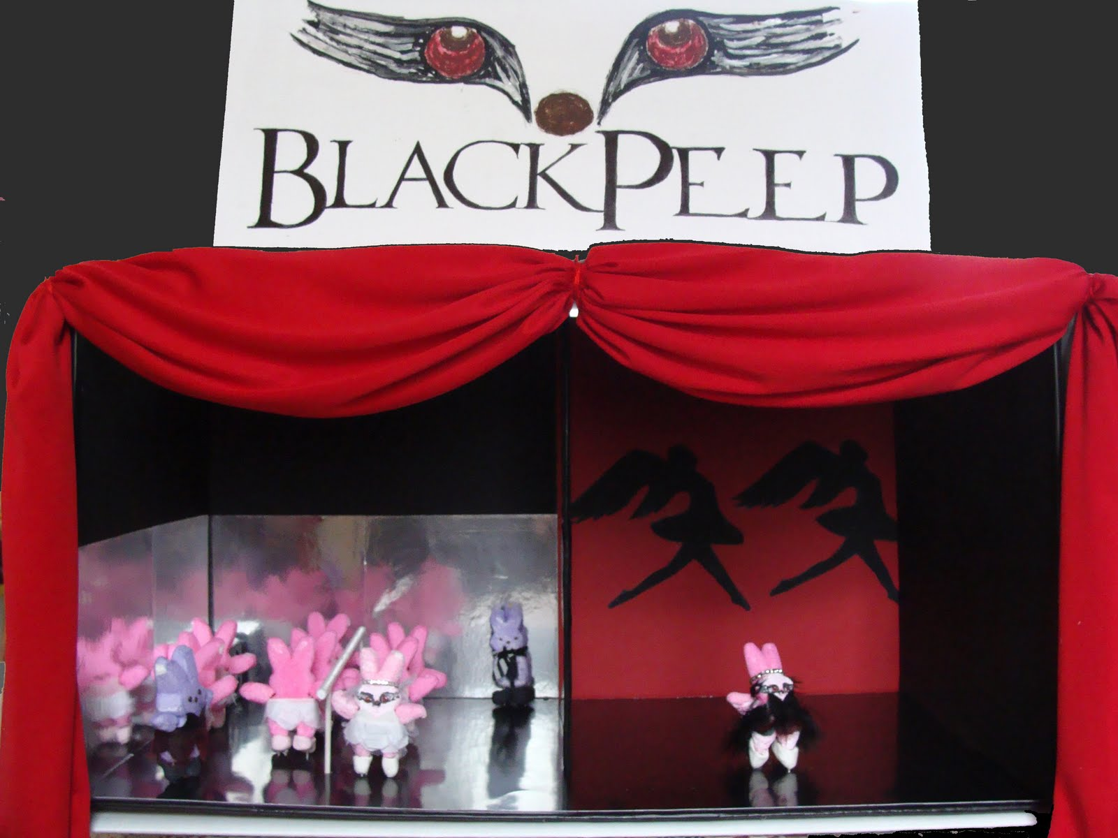 Black Swan peeps diorama