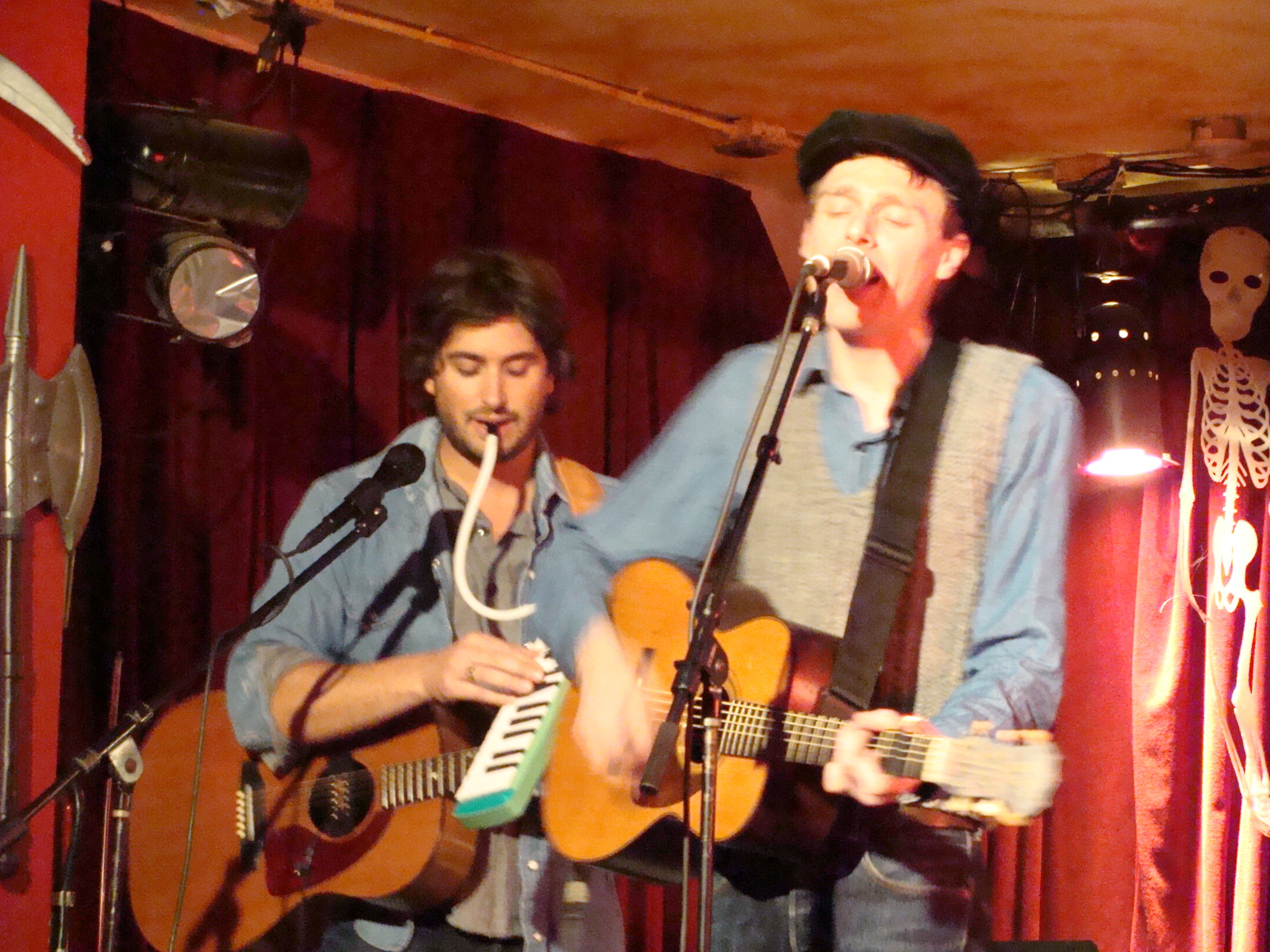 Joel Plaskett and Peter Elkas at Kenny's Castaways, NYC