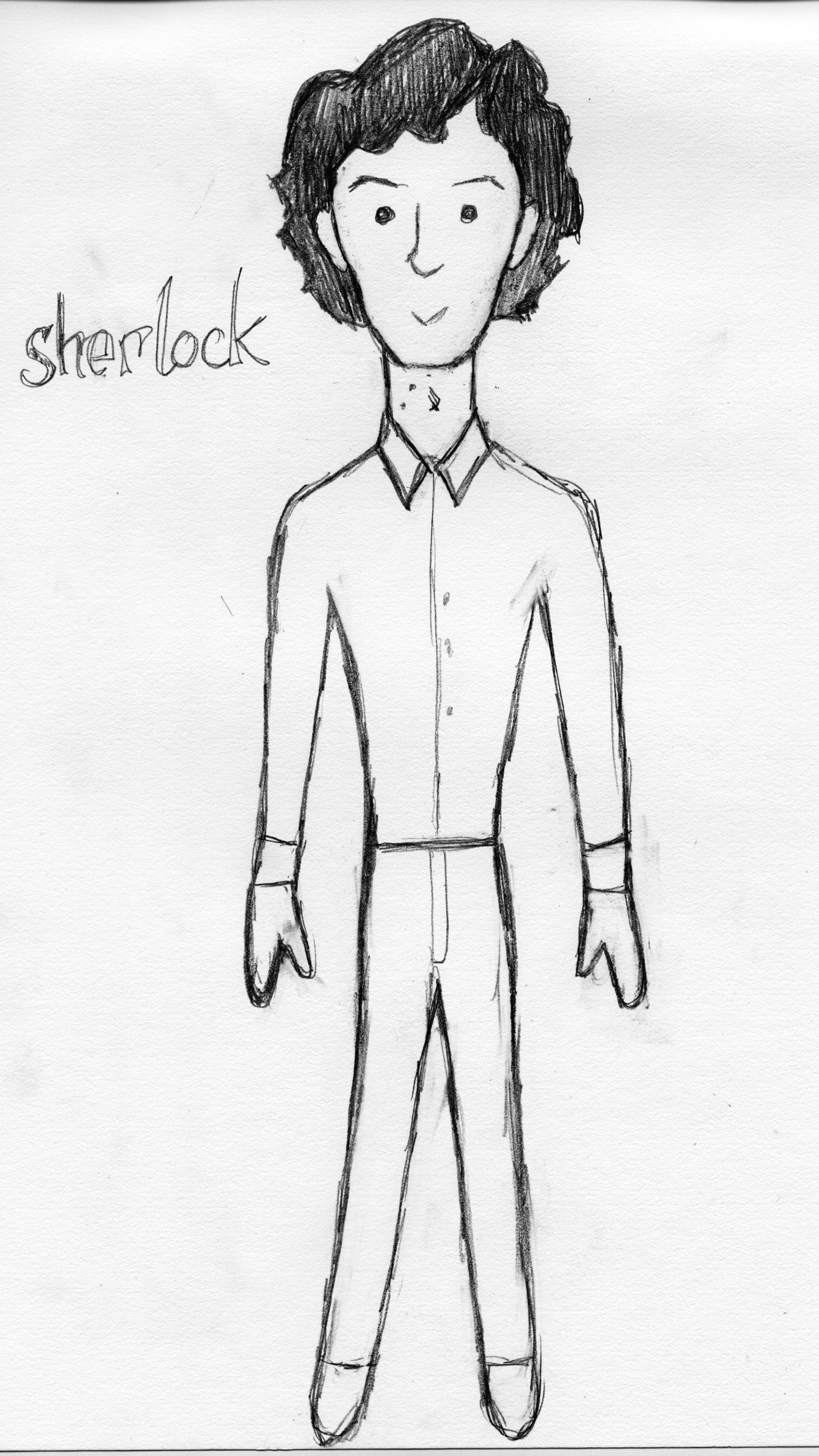 Sherlock Plush Doll sketch