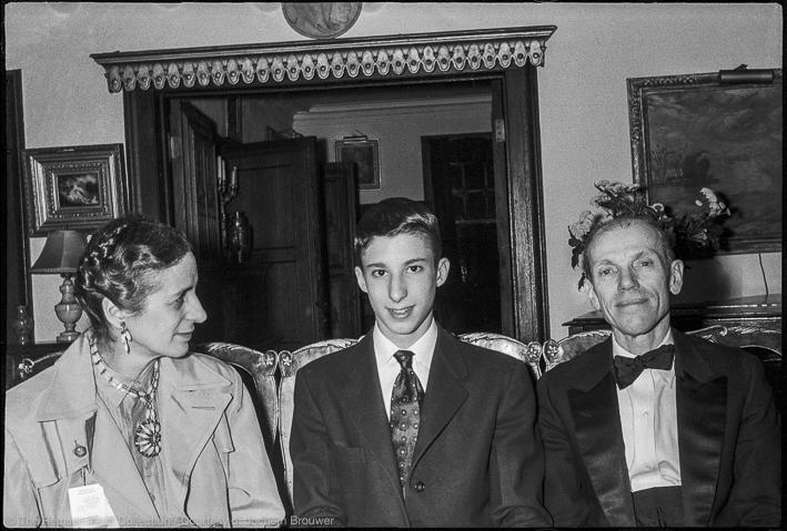 Isabel Bishop, Remsen Wolff, Dr Harold Wolff, I.B.W's birthday 1955