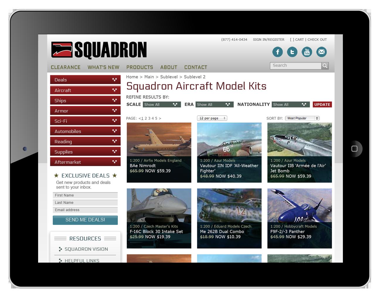 Squadron.com Website