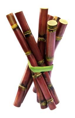 Fresh red sugarcane
