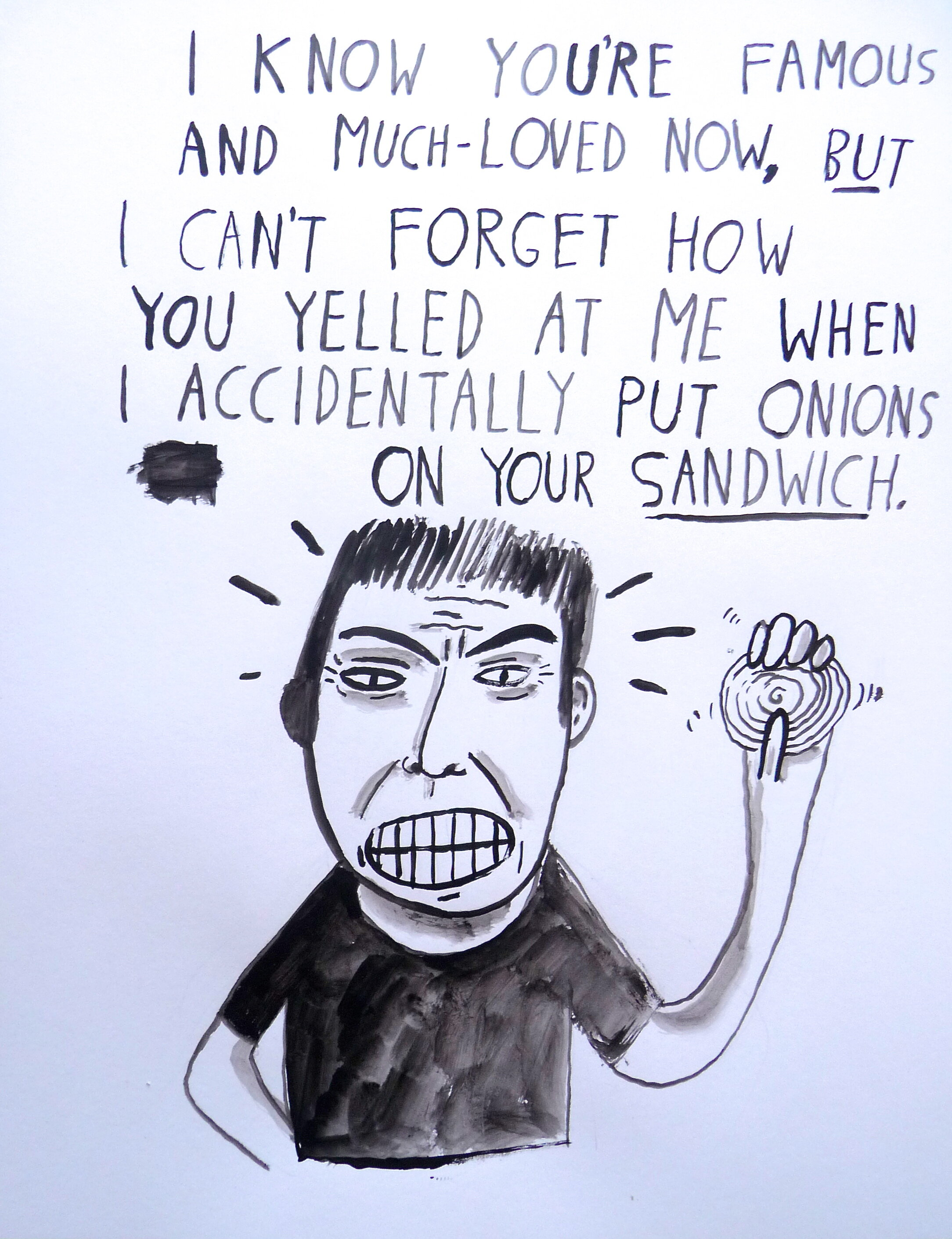 'no onions!'  81/2 x 11  $75 (plus shipping and handling)