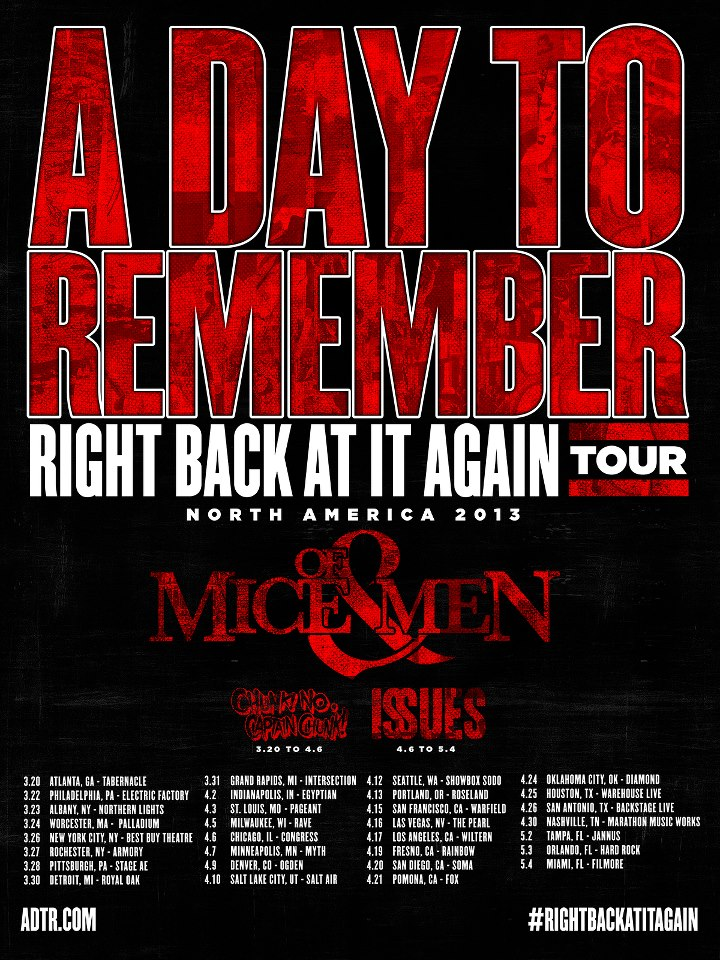 This is going to be a killer tour. Who's excited?