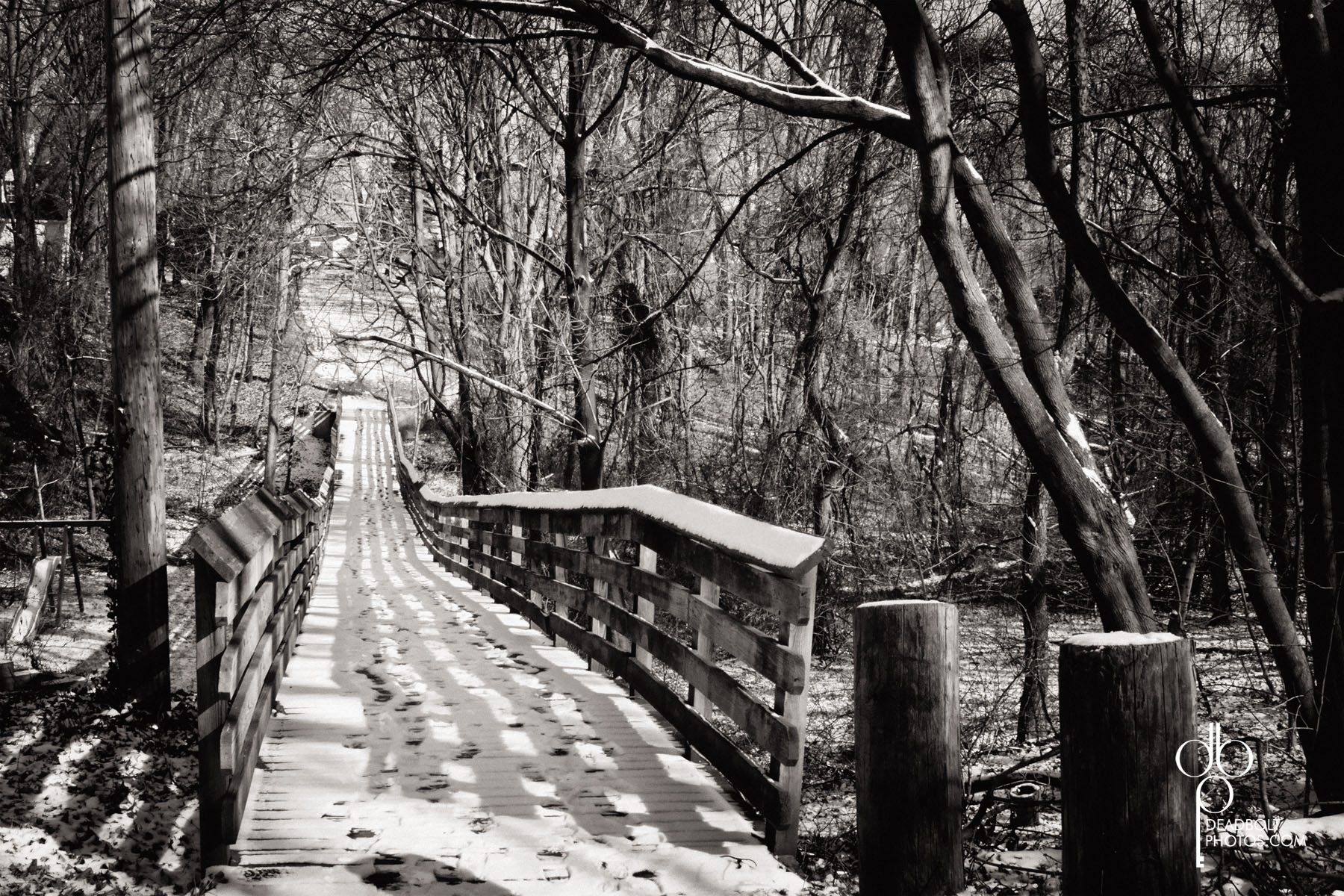 This bridge is in Milltown. I love how it looks different throughout the year.