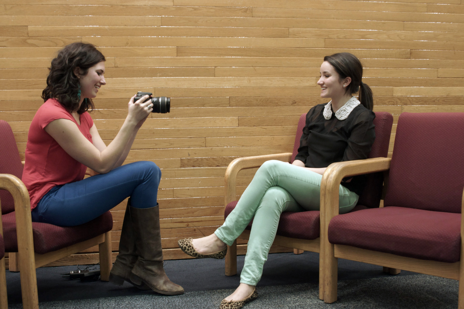 Kelsey being interviewed by  Crissy Milazzo .