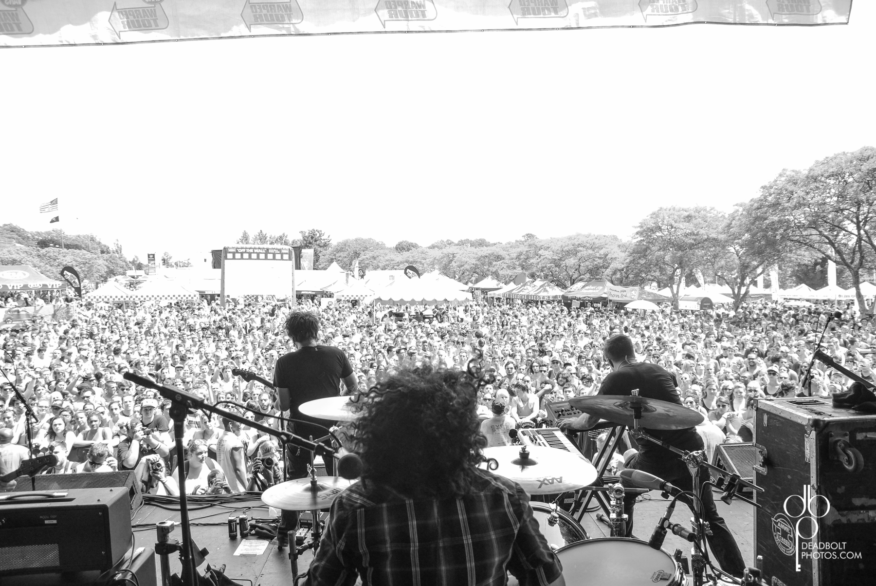 Motion City Soundtrack in front of a full crowd for Warped Tour 2013 and PNC Bank Arts Center.