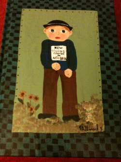the painted cover