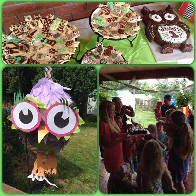My little sister Kristen posted these pictures - cookies decorated by her and my brother and the crepe paper by my mother-in-law Lydia who is a middle school secretary and crepe paper hanging genius!