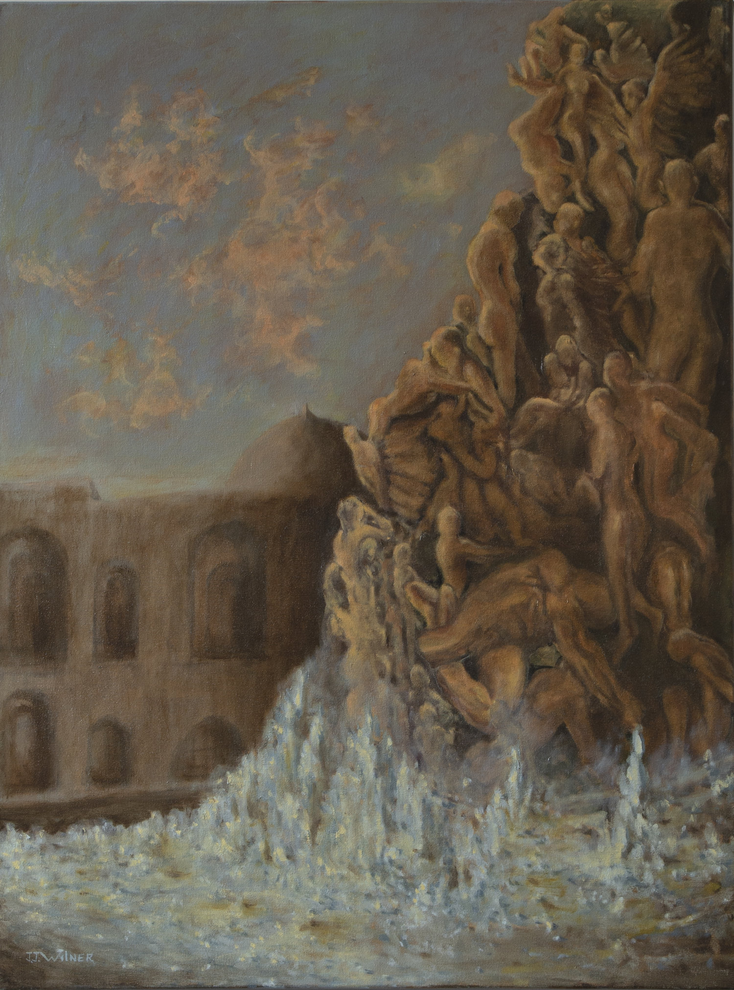 "Copy of  ""Trevi Nightmare"", Oil Painting, 30"" x 40"""