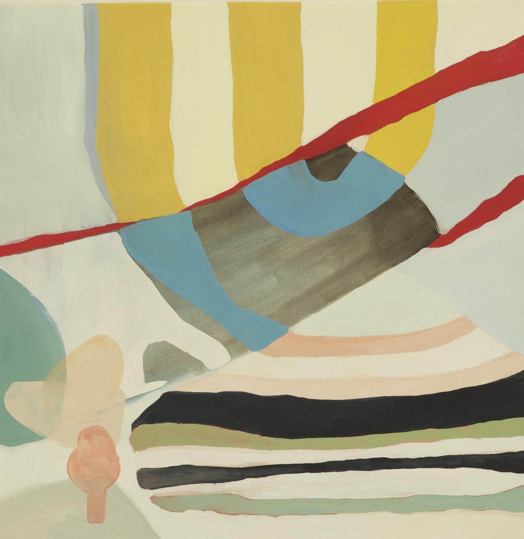 "Pedestrians Crossing Detail, 2015, 30X30"" oil on canvas"