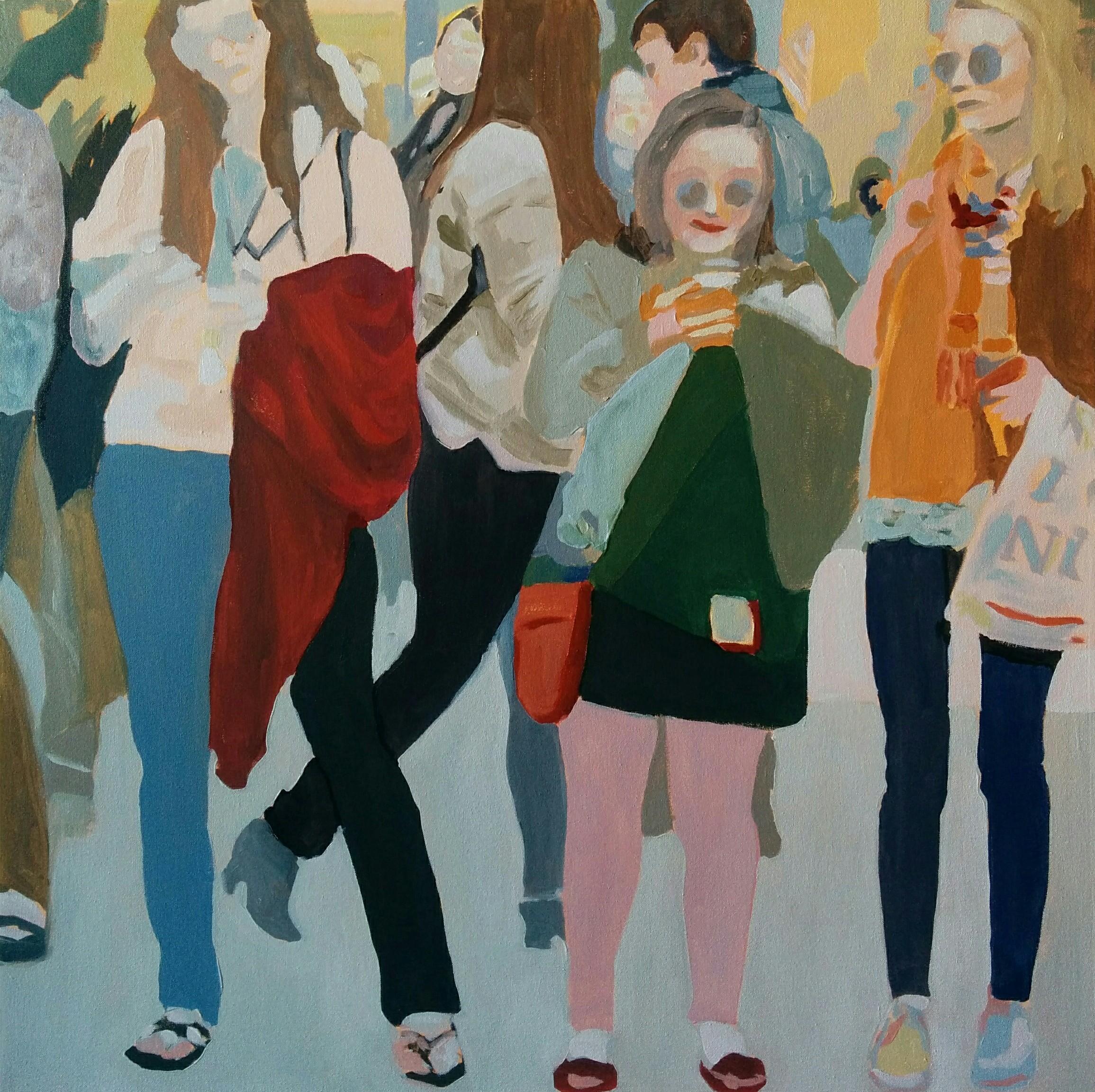 "Lenox Hill, 2016, 30x30"" oil on canvas"