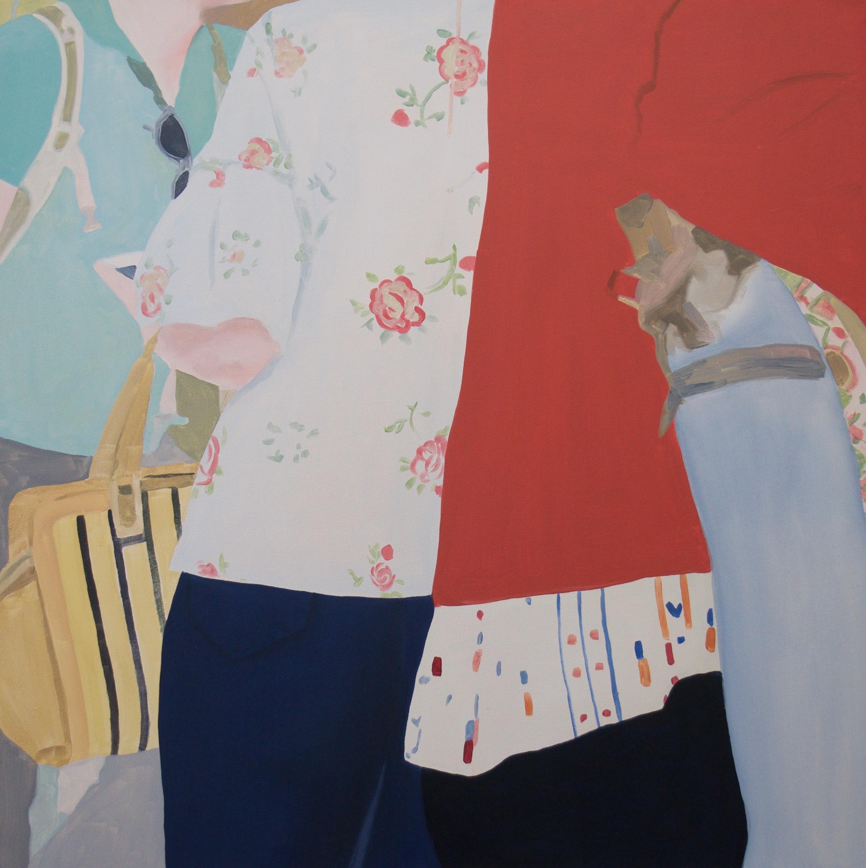 "Floral Silk, 2018, 40x40"" oil on canvas"