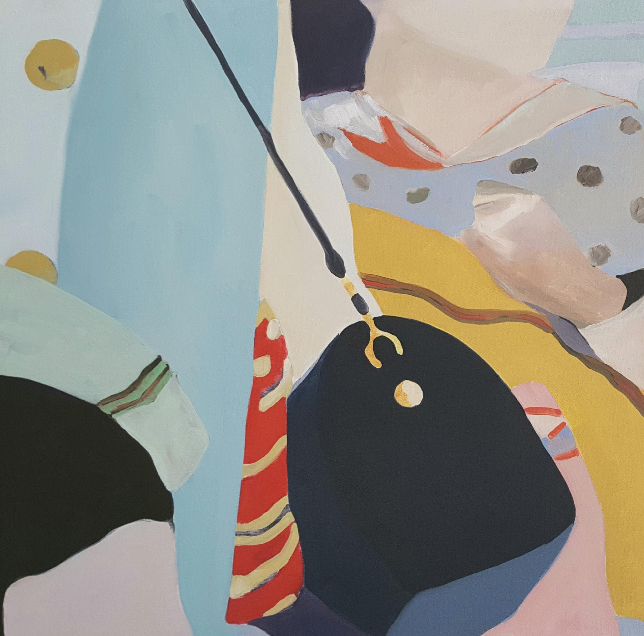 "Bystanders II, 2018, 24x24"" oil on canvas"