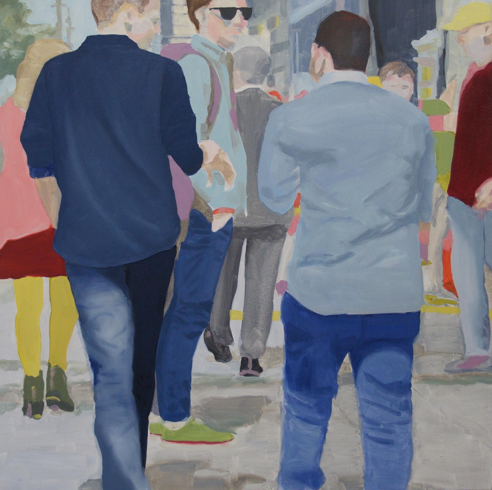 """Denims, 2018, 30x30"""" oil on canvas"""