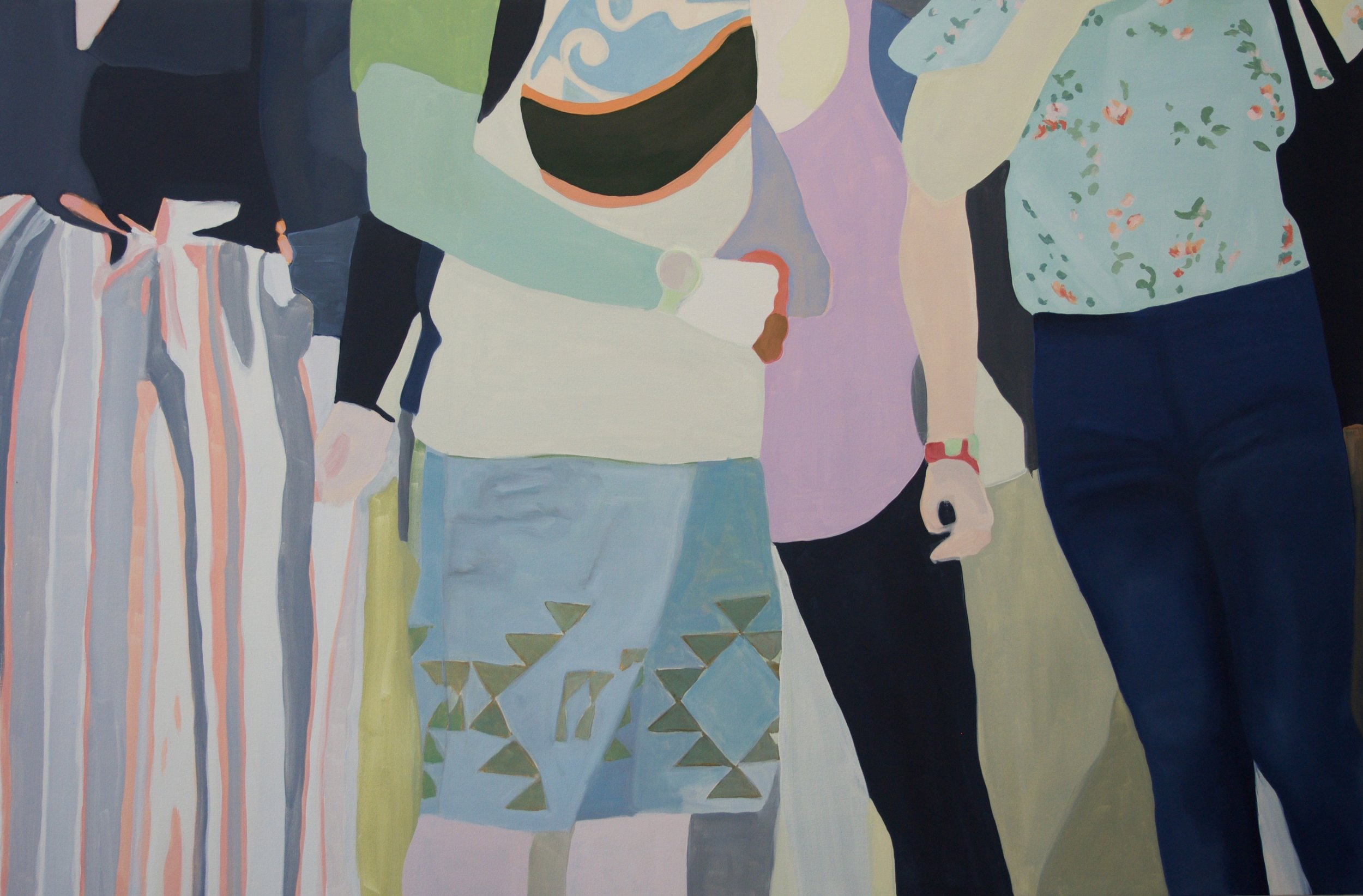 """Striped Pants, 2018, 40x60"""" oil on canvas"""