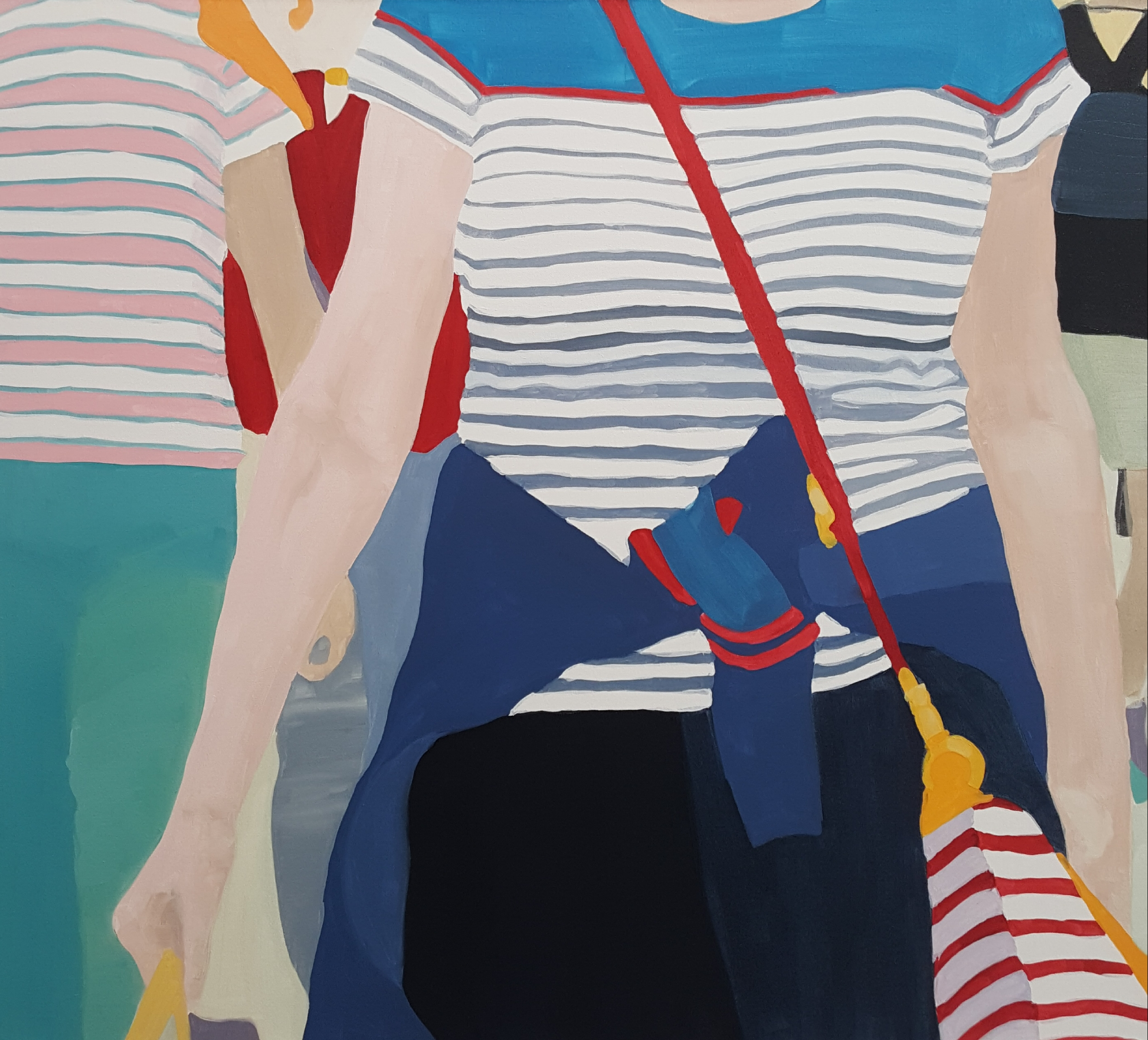 "Metropolitans, 2019, oil on canvas, 36x40"""