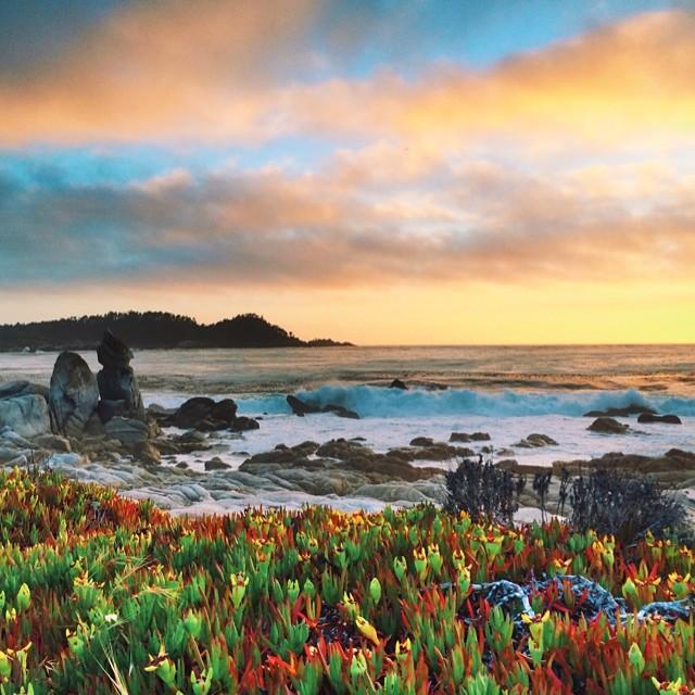 Sunset at Ribera Beach #carmel #ocean #vscocam #HDR