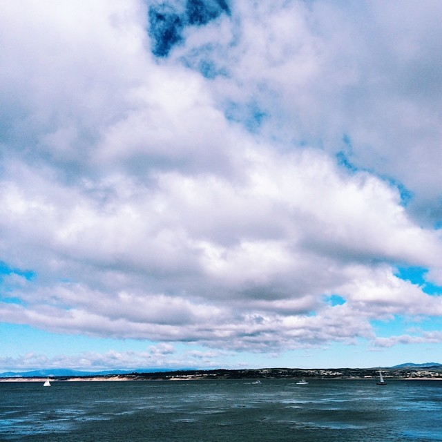 Stunning day in #Monterey #ocean #sea #sky #clouds #vscocam