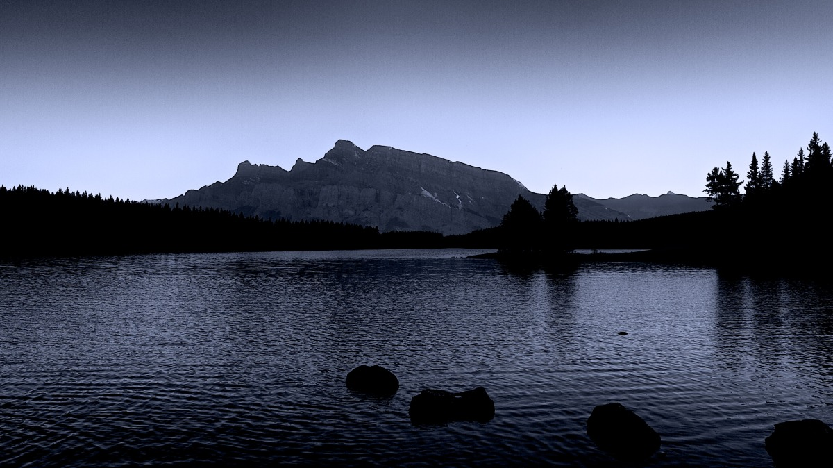 2012-09-07 at 18-09-51 banff, black & white, cold, lake, landscape, moody, mountain, rocks.jpg