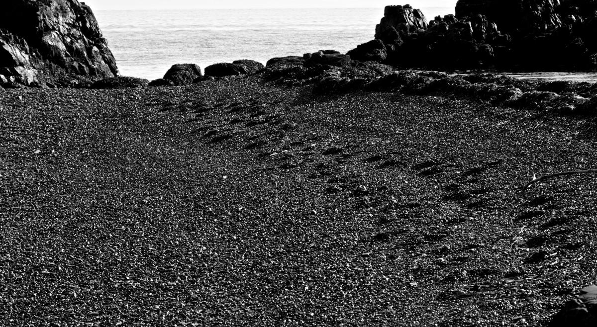 2012-08-17 at 08-00-56 beach, black & white, footsteps, landscape, rocks, seascape.jpg