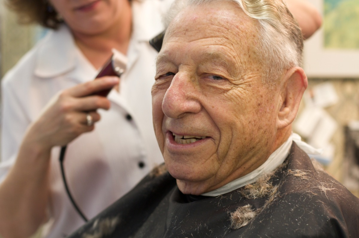 2010-12-18 at 10-45-52 barber, clippers, old man, woman, haircut, smile, friends .jpg
