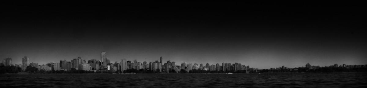 2009-09-12 at 17-43-41 black & white, city, harbour, landscape, ocean, seascape, skyline, vancouver.jpg