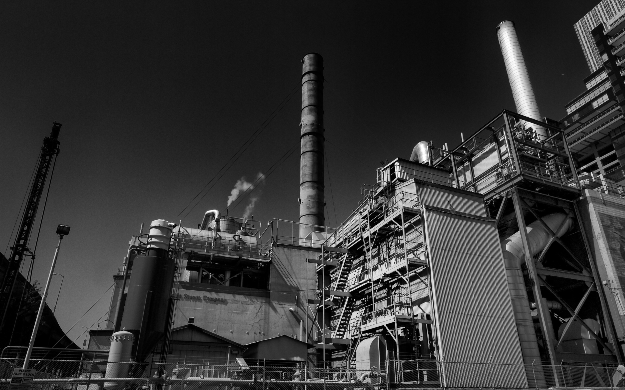 2013-08-04 at 15-16-35 Smokestack, Factory, Industry, Sky, Urban, Seattle, Steam.jpg