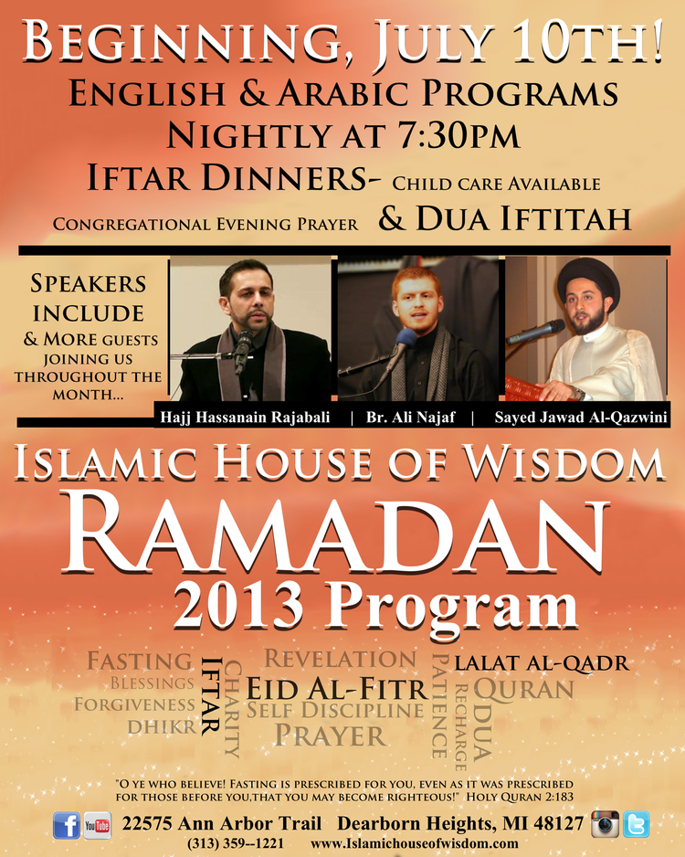 Weekly Announcements — Islamic House of Wisdom