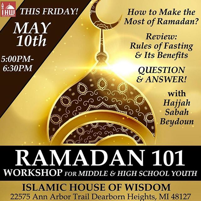 Join us this Friday for a Q&A session with Hajji Sabah Beydoun to learn how to make the most out of ramadhan.