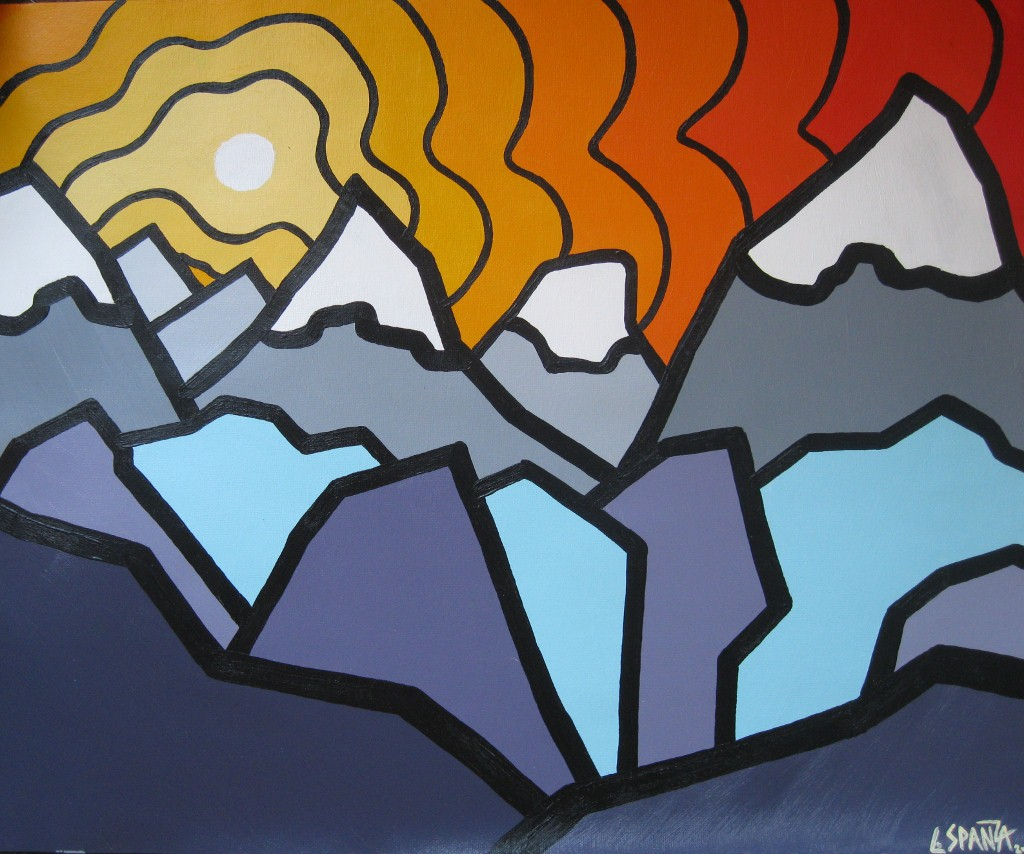 """Title: The Ridge, 2011  Size: 16"""" x 20"""" Acrylic on Canvas  SOLD"""