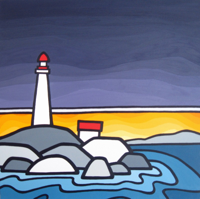 "TItle: Lighthouse Park, 2012  Size: 24"" x 24"" Acrylic on Canvas  SOLD"