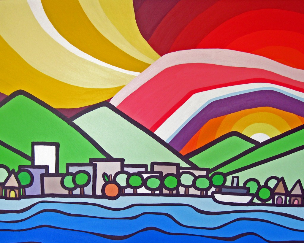 "Title: Penticton, 2012  Size: 24"" x 36"" Acrylic on Canvas  SOLD"