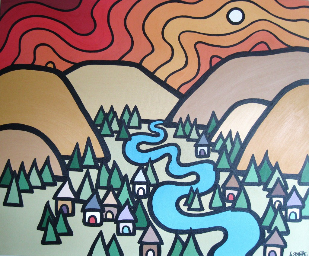 "Title: Armstrong Valley, 2011  Size: 30"" x 36"" Acrylic on Canvas  SOLD"