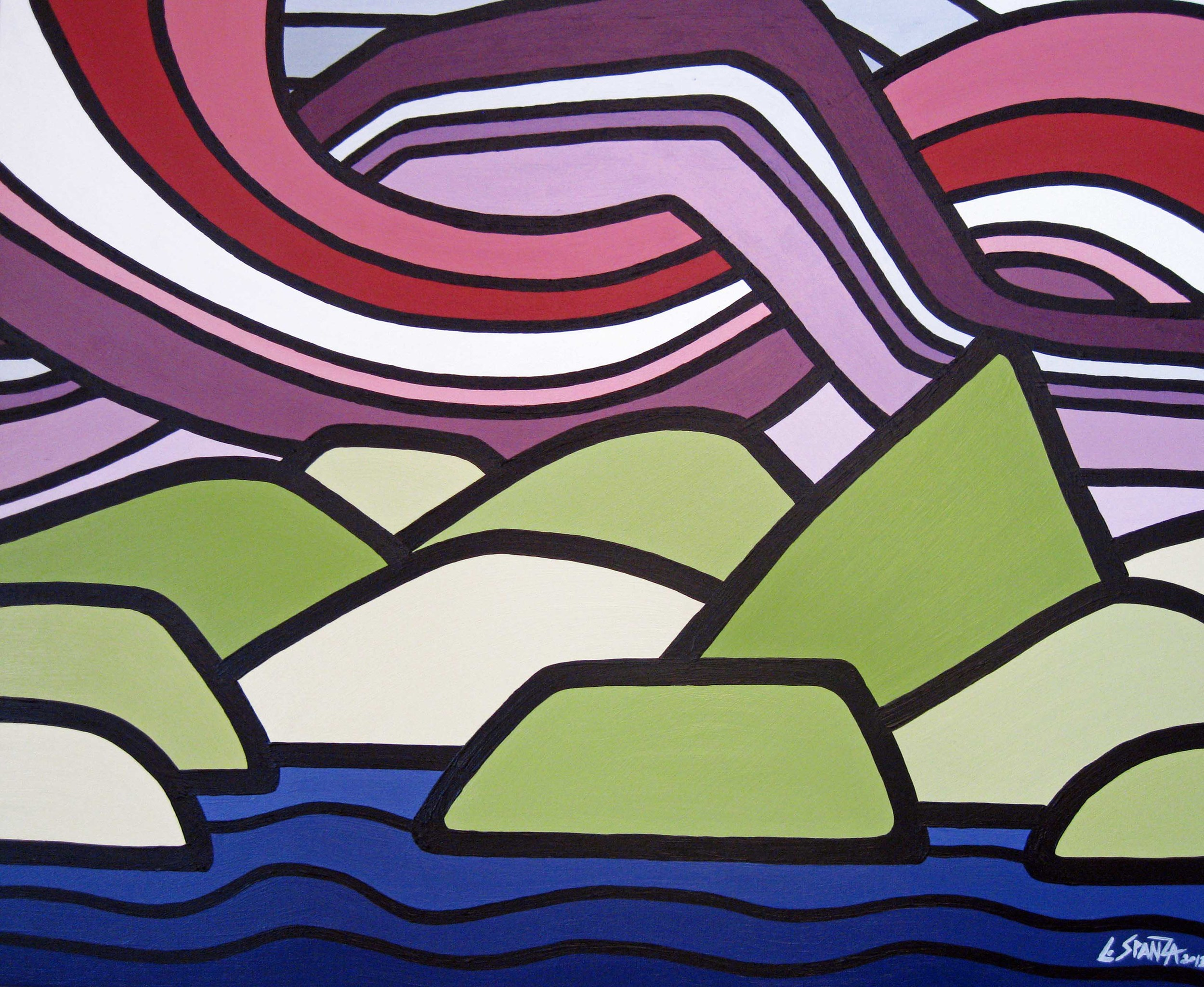 "Title: Okanagan Meritage  Size: 20"" x24"" Acrylic on Canvas  DONATED to the Kelowna Art Gallery"
