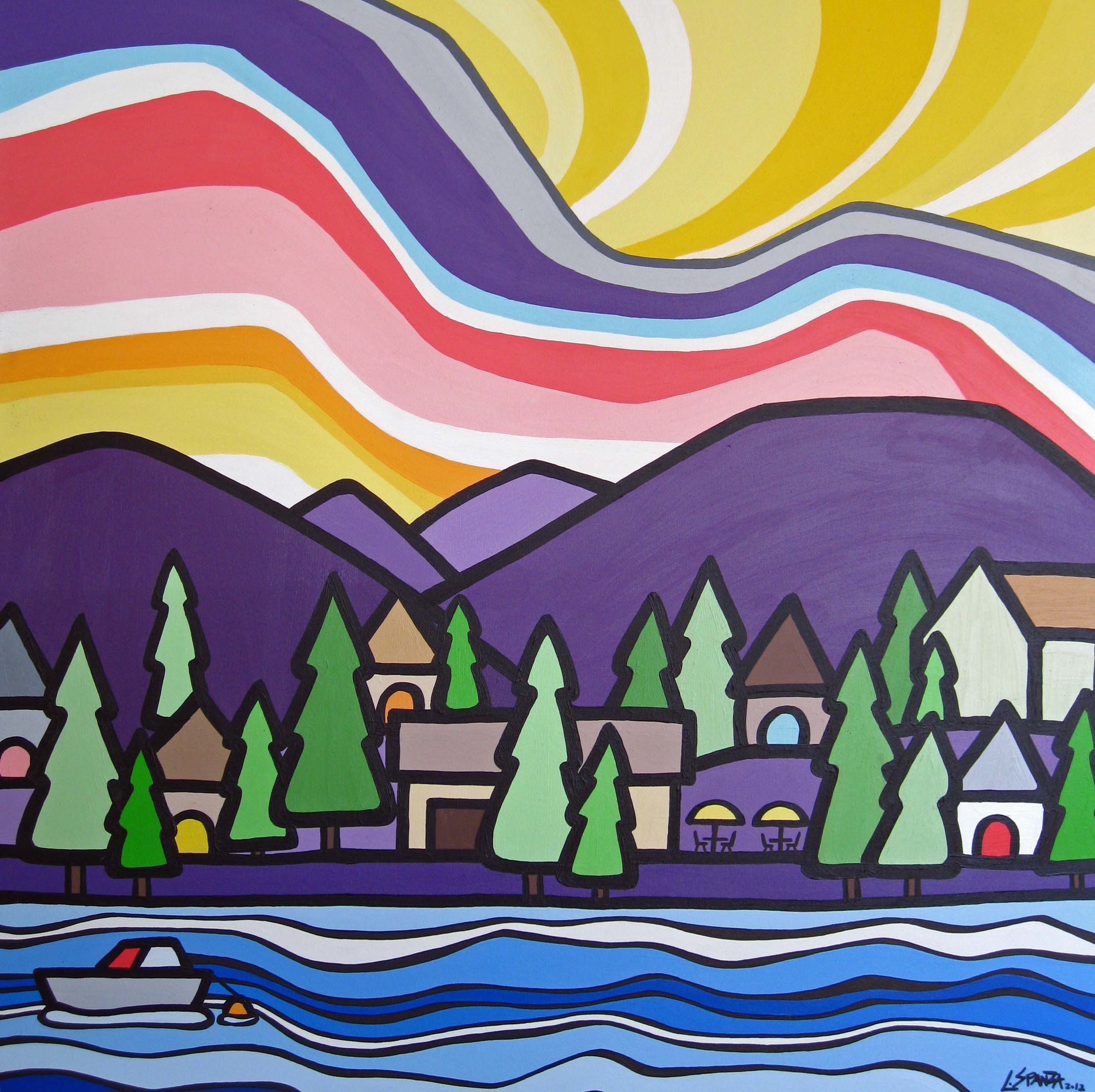 "Title: Okanagan Centre  Size: 36"" x 36"" Acrylic on Canvas  SOLD"